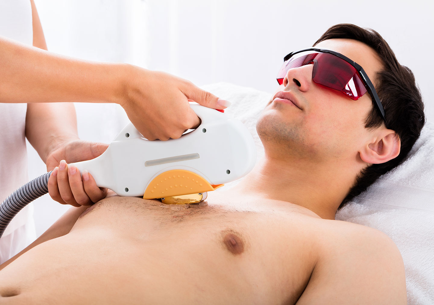 Man Hair Removal Chest Laser