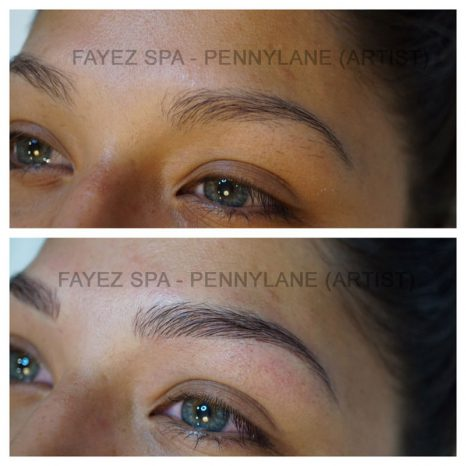 Permanent Makeup Brow Before and After 3