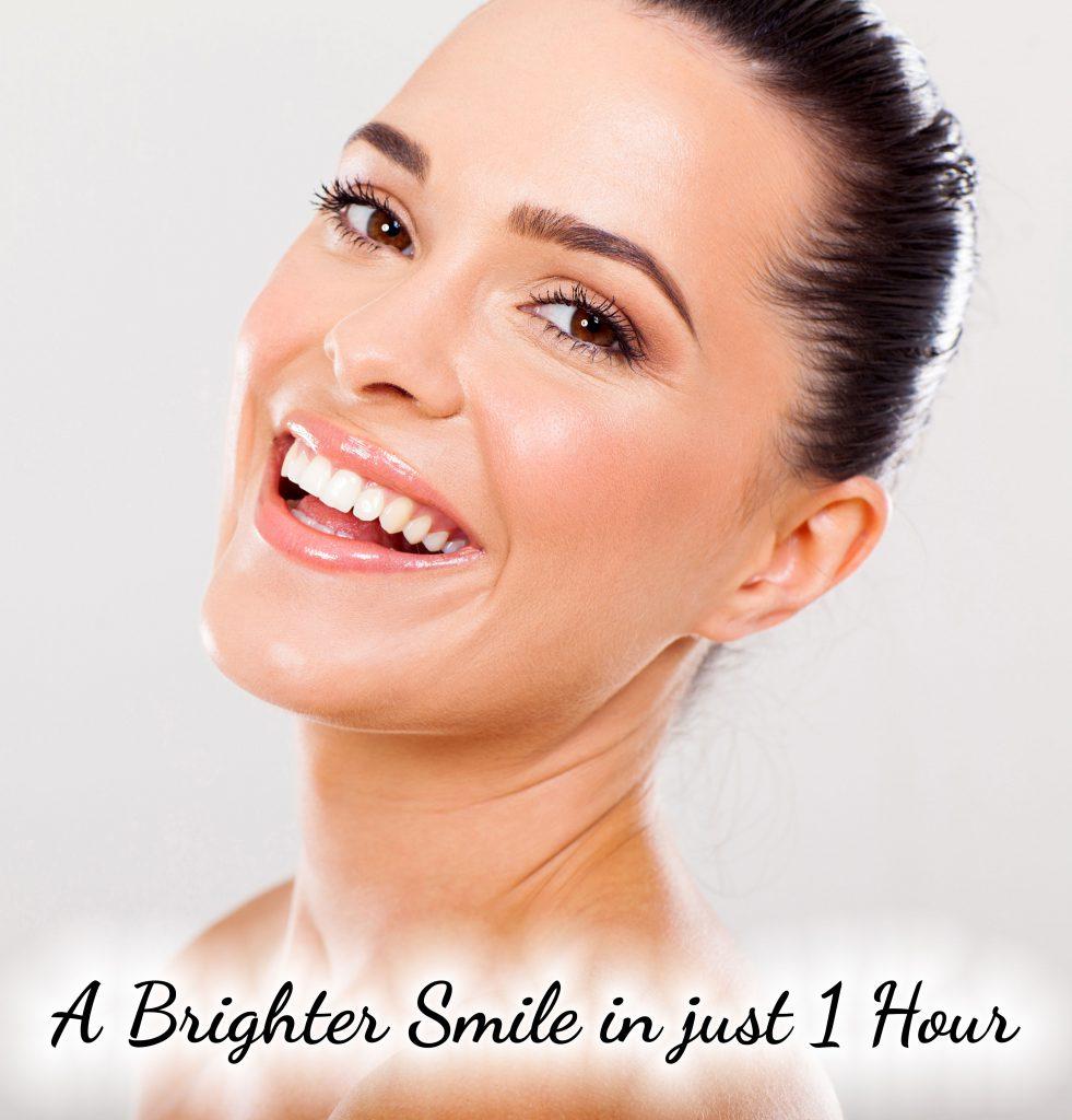 Lady white teeth