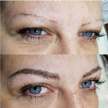 Permanent Makeup Brow Before and After 2