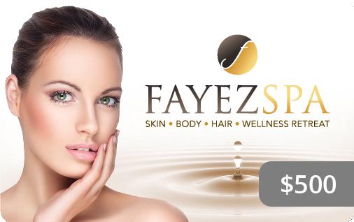 Fayez Spa Gift Card $500